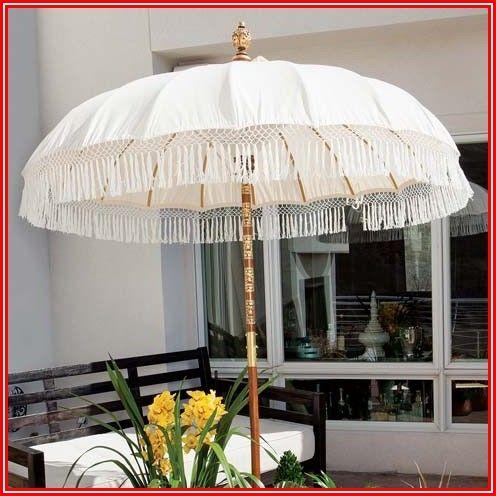 Outdoor Patio Umbrella With Fringe