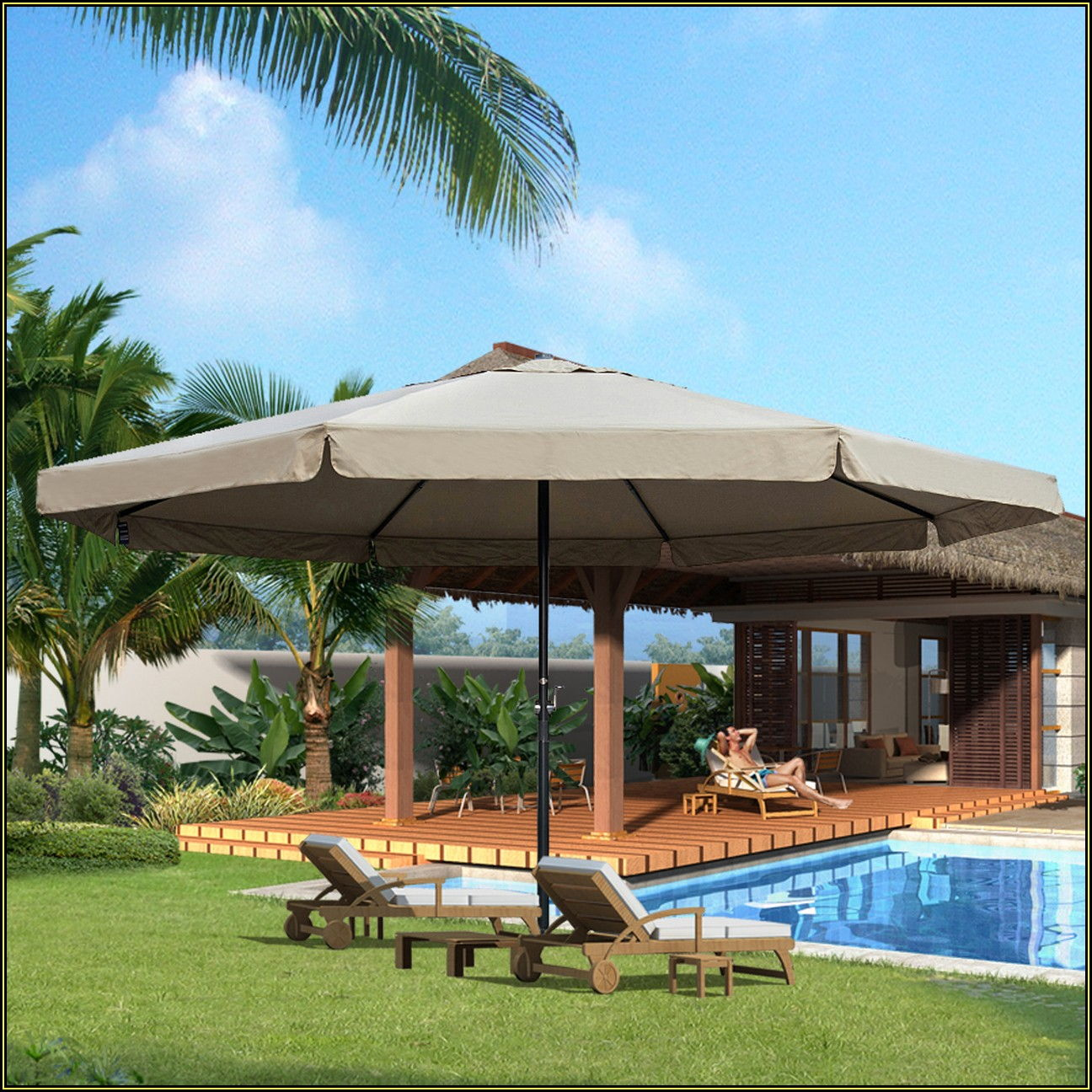 Oversized Outdoor Patio Umbrellas