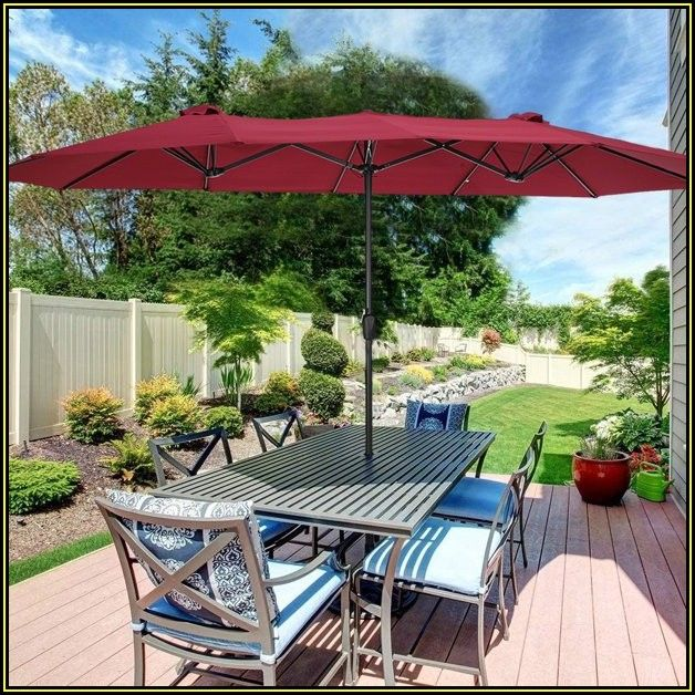 Oversized Rectangular Patio Umbrellas