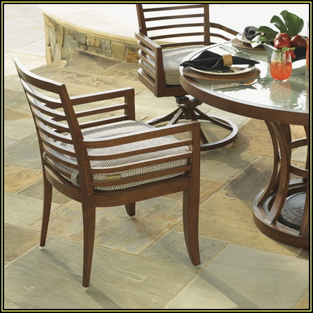 Padded Sling Back Patio Chairs