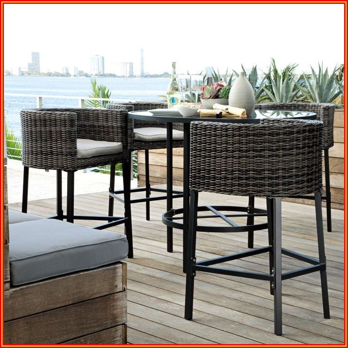 Patio Bar Chairs And Table