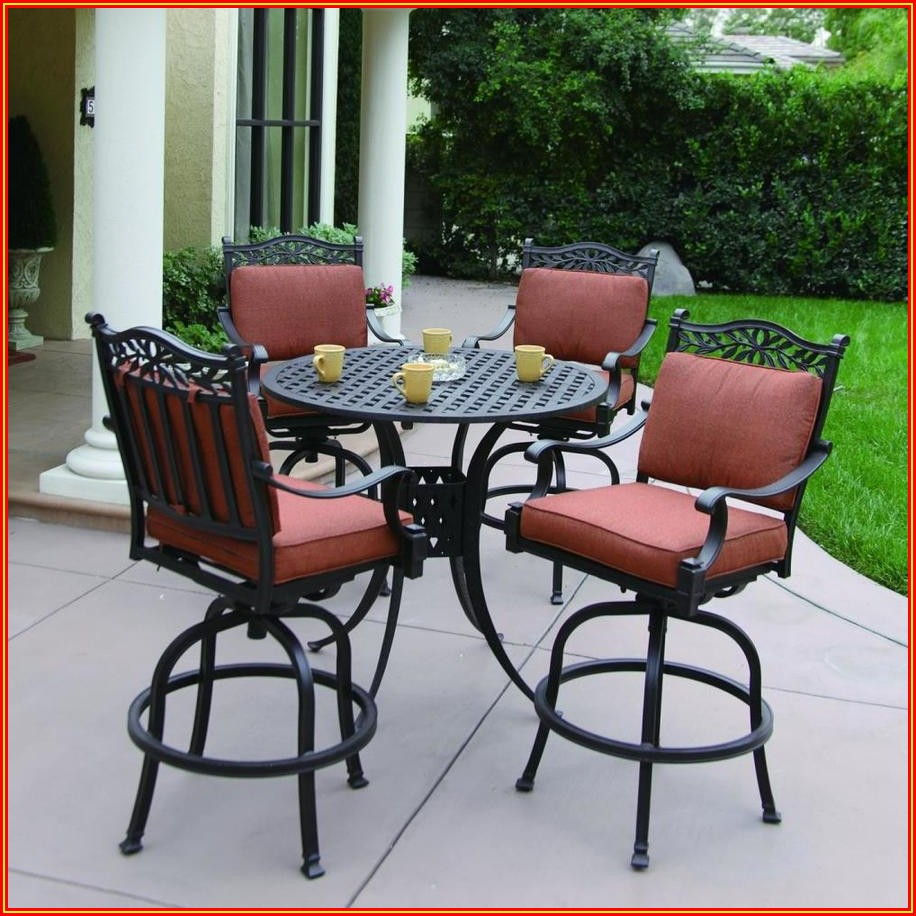 Patio Bar Height Dining Table Set