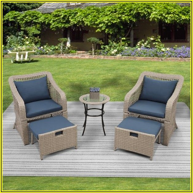 Patio Bistro Sets With Ottoman