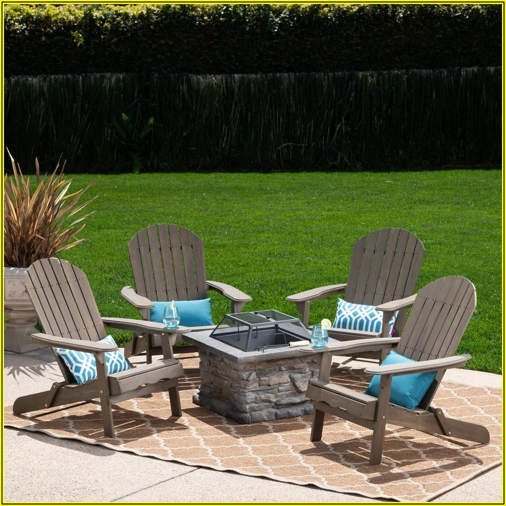 Patio Chairs Around Fire Pit