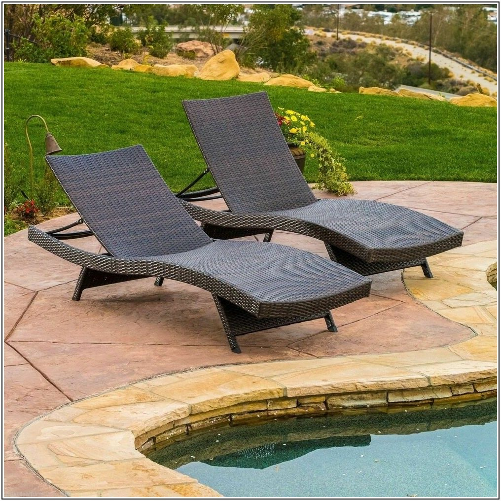Patio Chaise Lounge Set Of 2