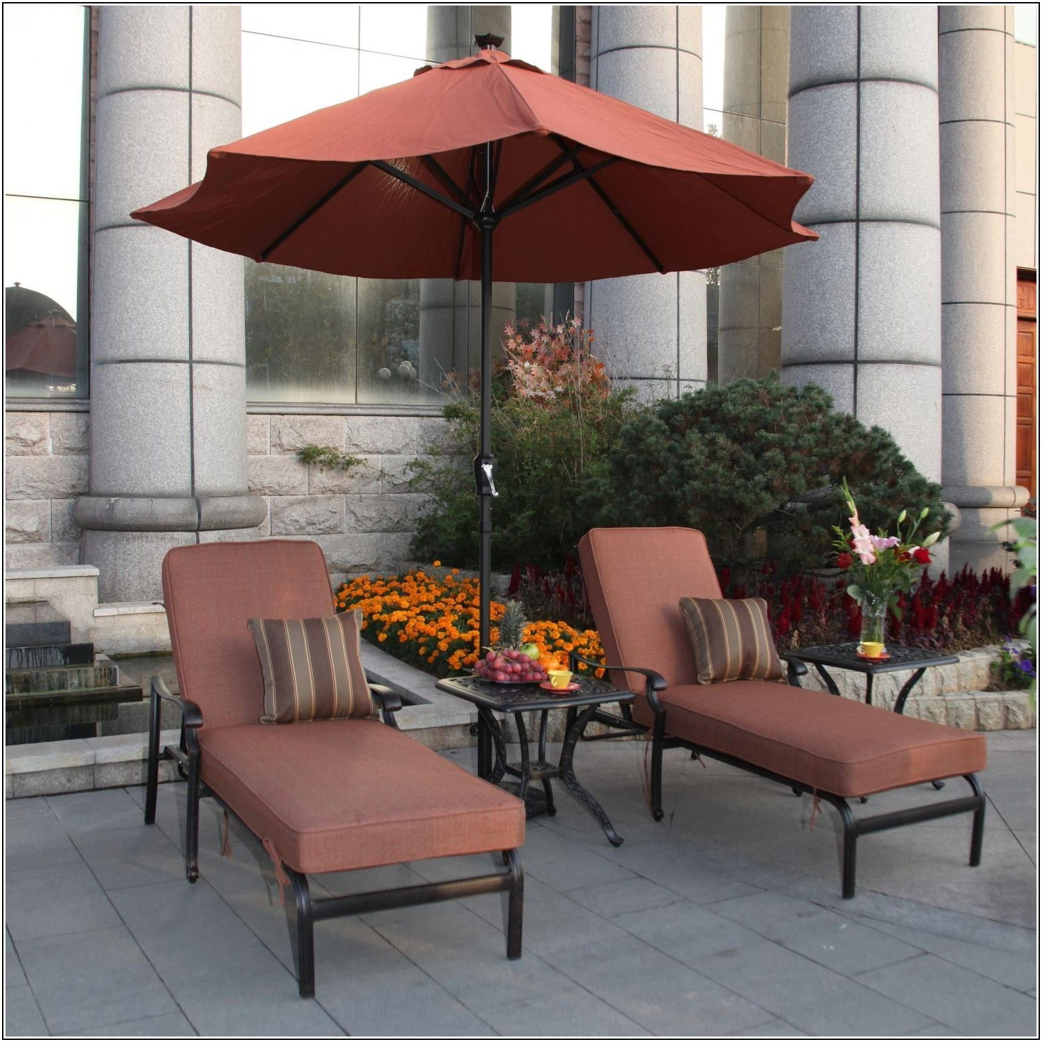 Patio Chaise Lounge Set