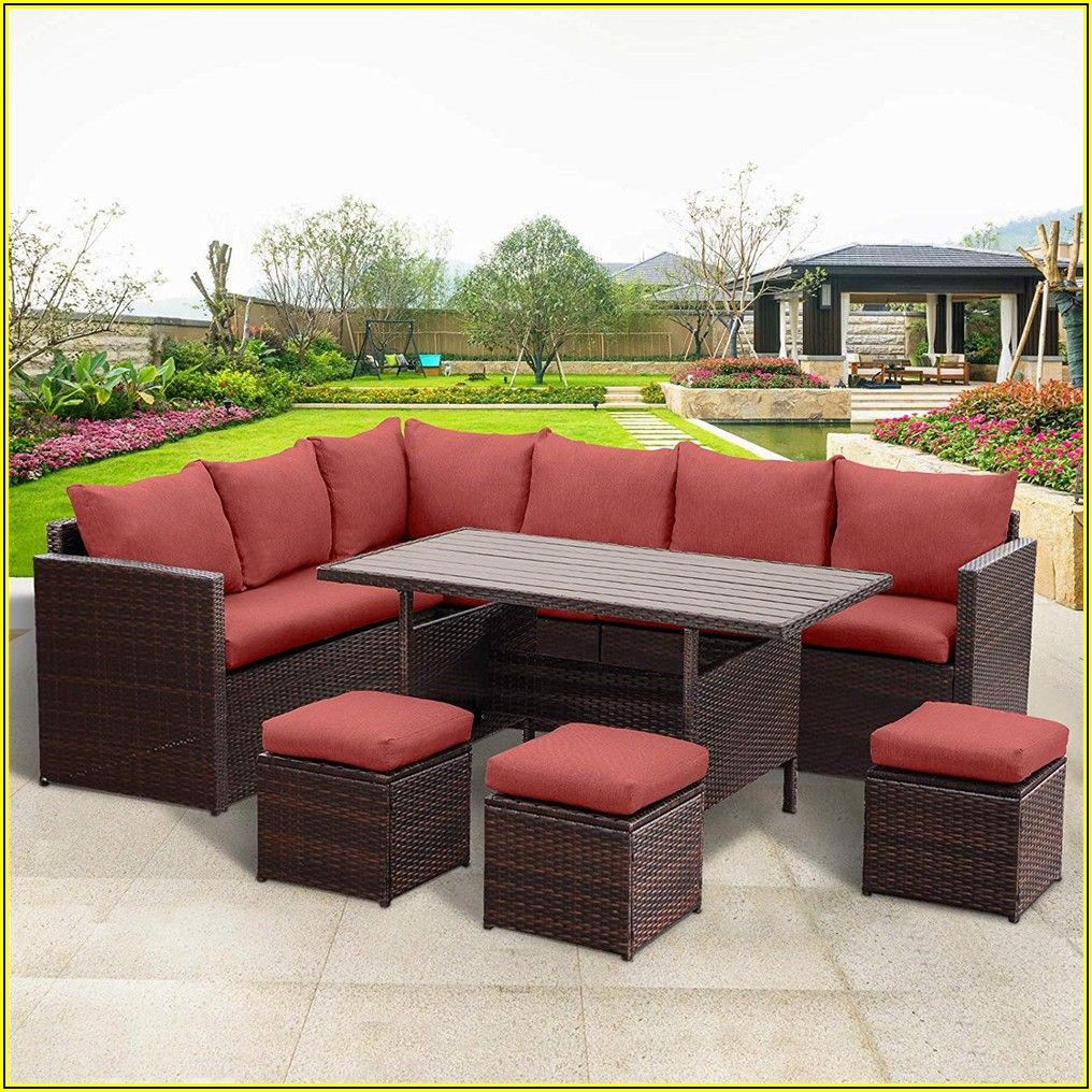Patio Couch With Ottoman