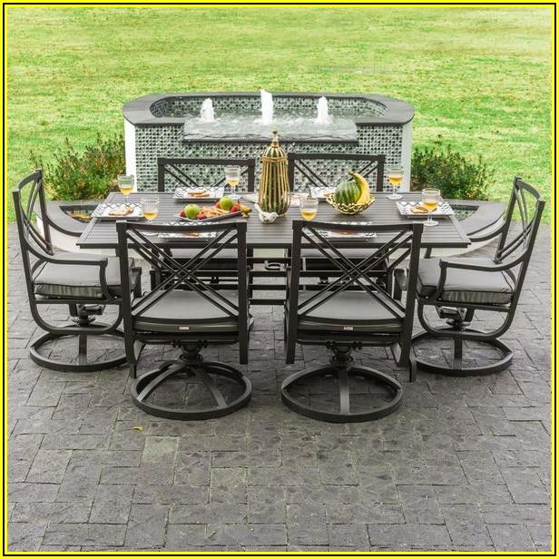 Patio Dining Set Swivel Rocker