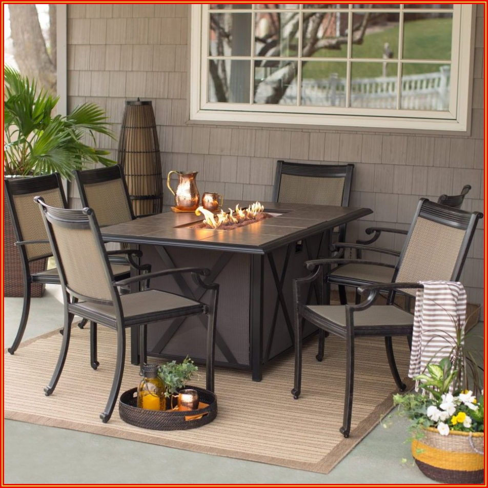 Patio Dining Set With Fire Table Canada