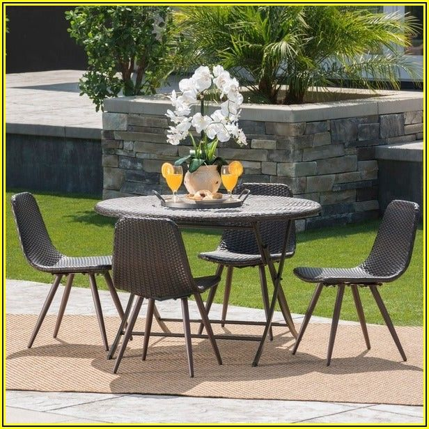 Patio Dining Set With Umbrella Hole