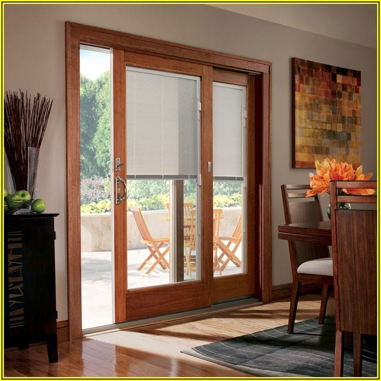 Patio Doors With Blinds Inside Glass