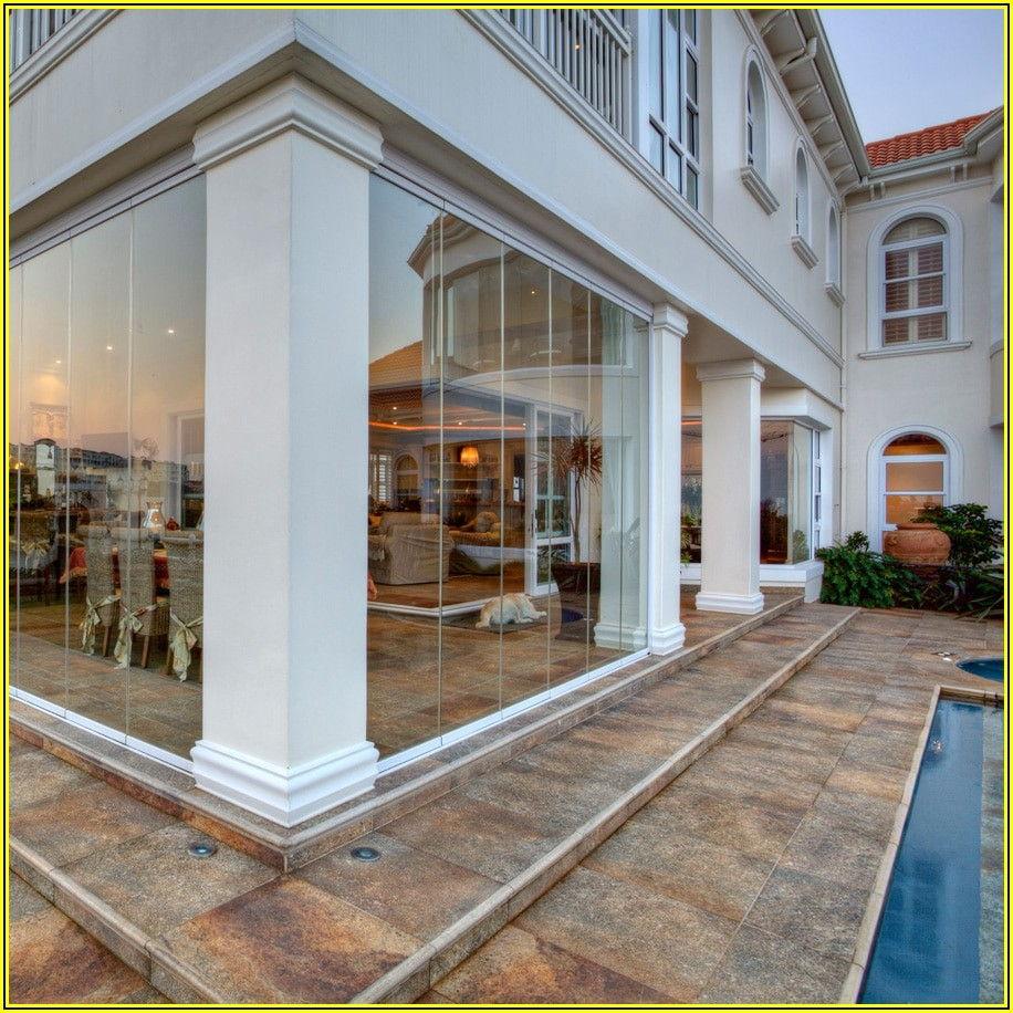 Patio Frameless Folding Glass Doors