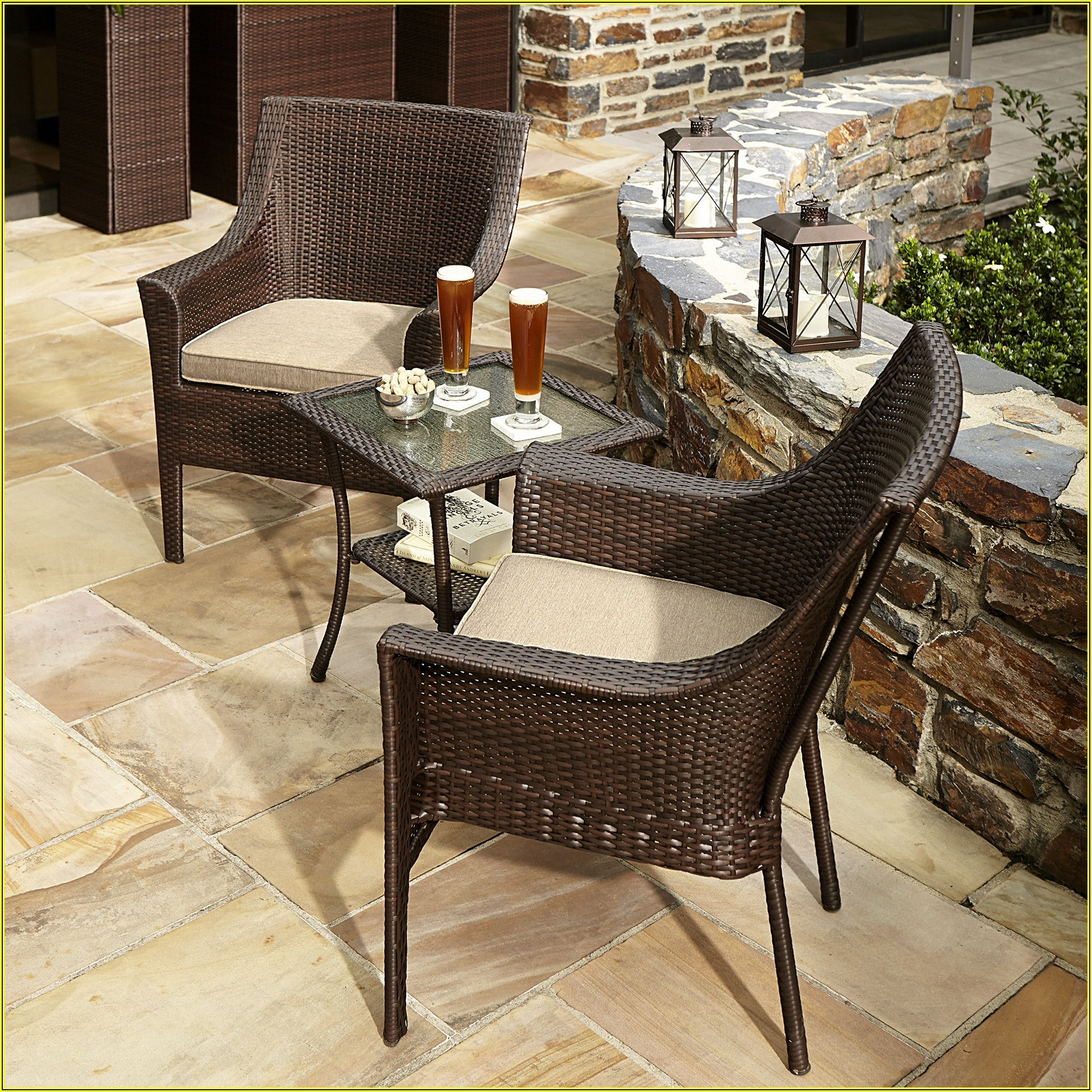 Patio Furniture 3 Piece Bistro Sets