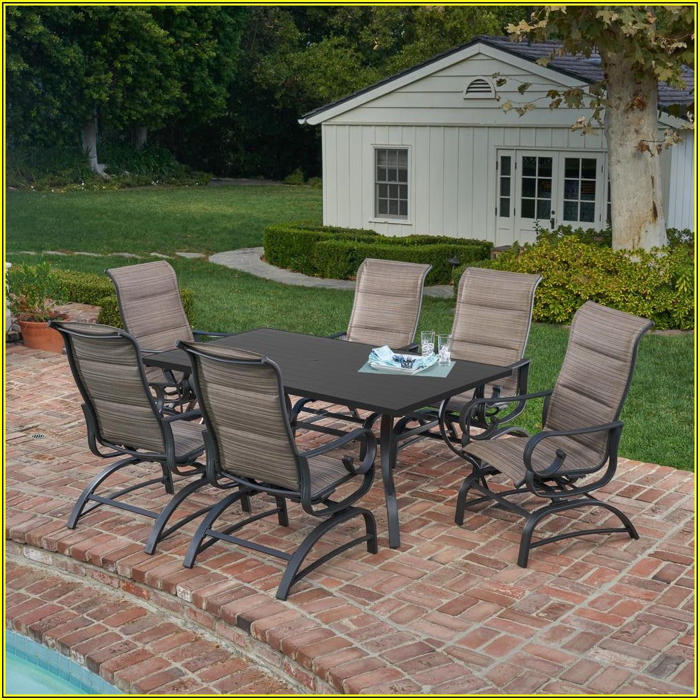 Patio Furniture 7 Piece Dining Set
