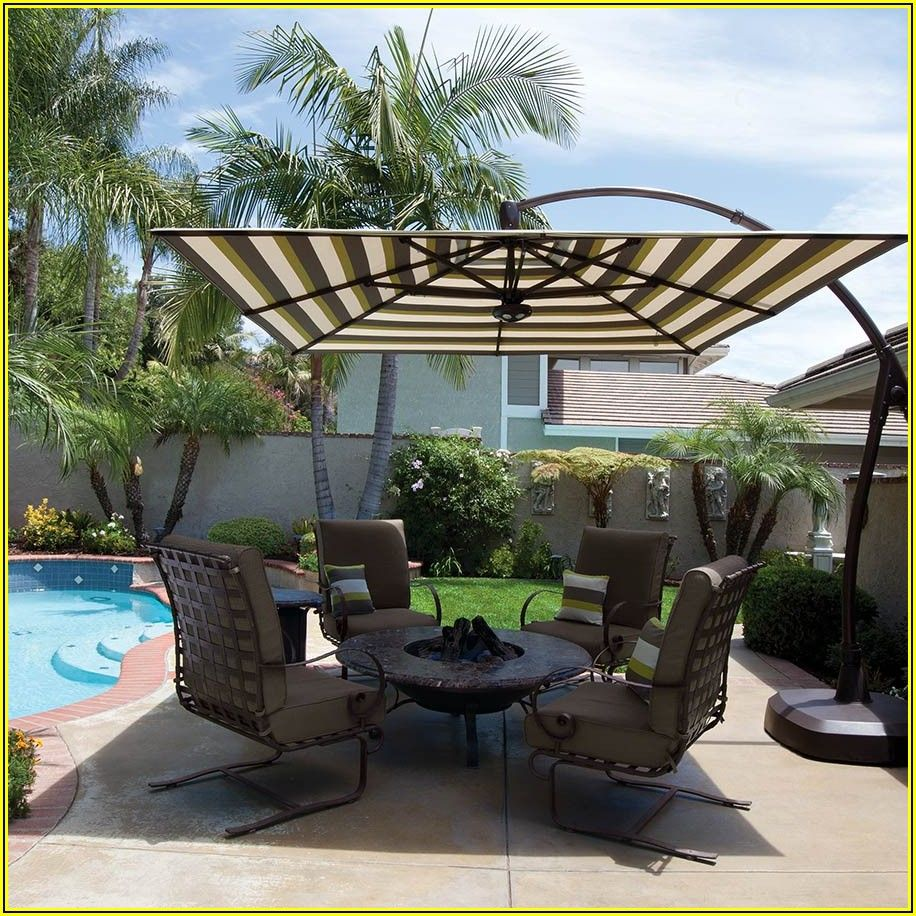 Patio Furniture With Fire Pit And Umbrella