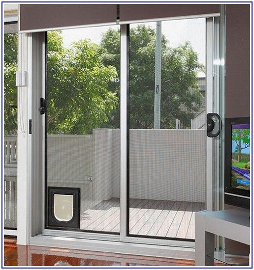Patio Panel Sliding Glass Pet Door For Dogs