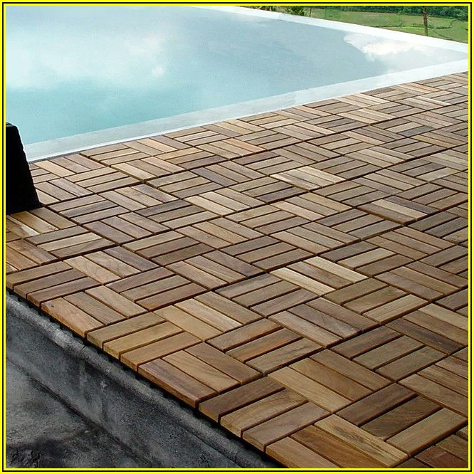 Patio Pavers Interlocking Wood Tiles