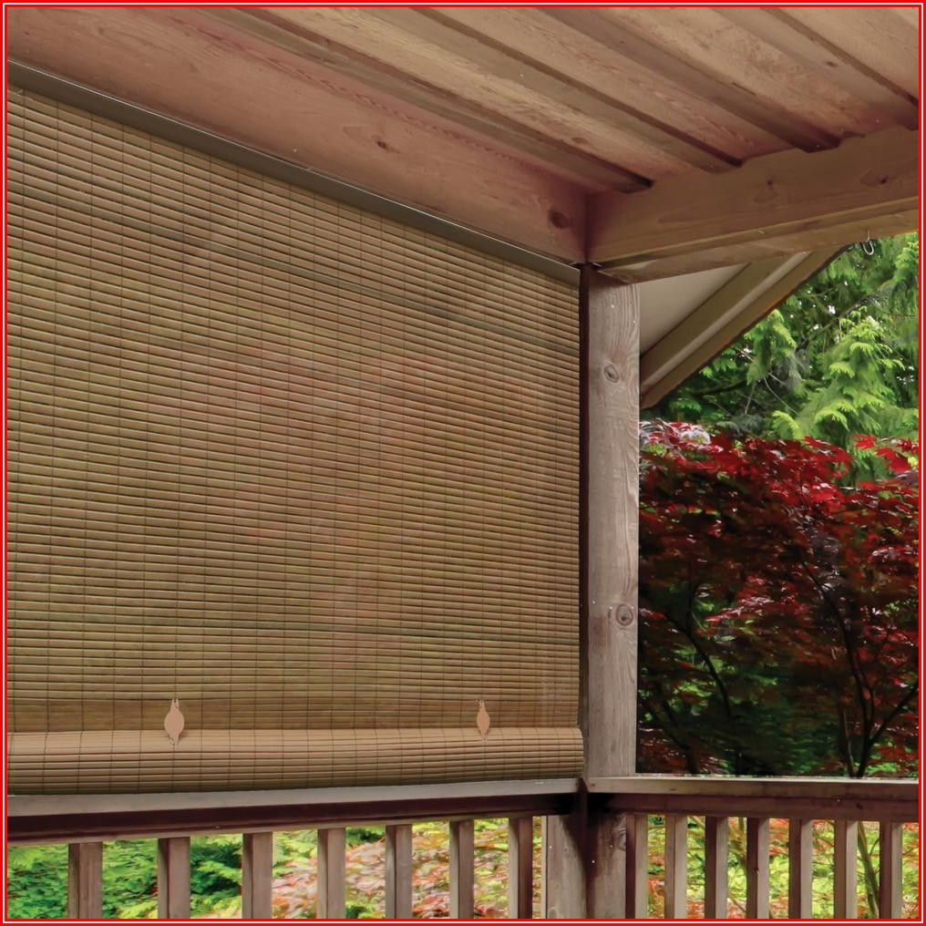 Patio Plastic Roll Up Blinds