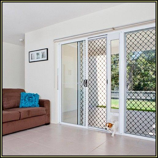 Patio Screen Door With Dog Door