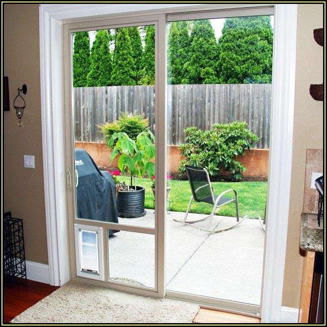 Patio Screen Door With Pet Door