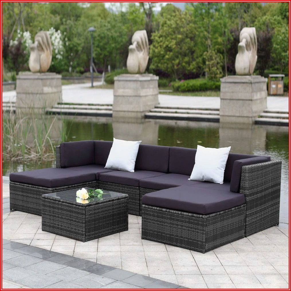 Patio Sectional Furniture Set