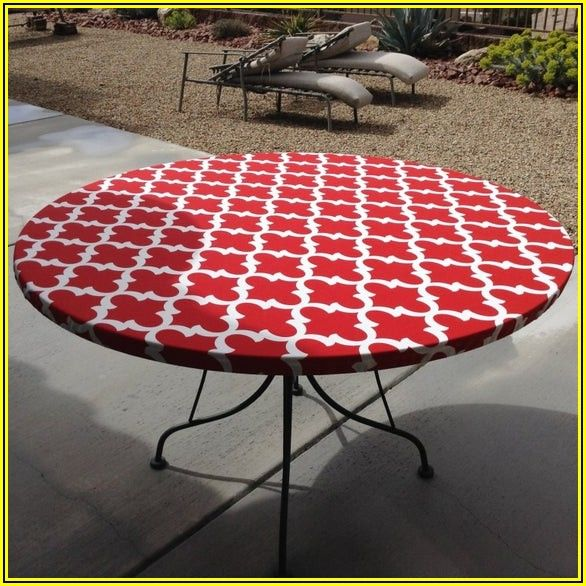 Patio Table Fitted Tablecloth