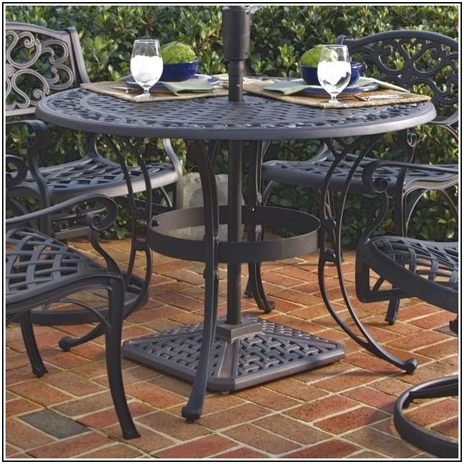 Patio Table For 6 With Umbrella Hole