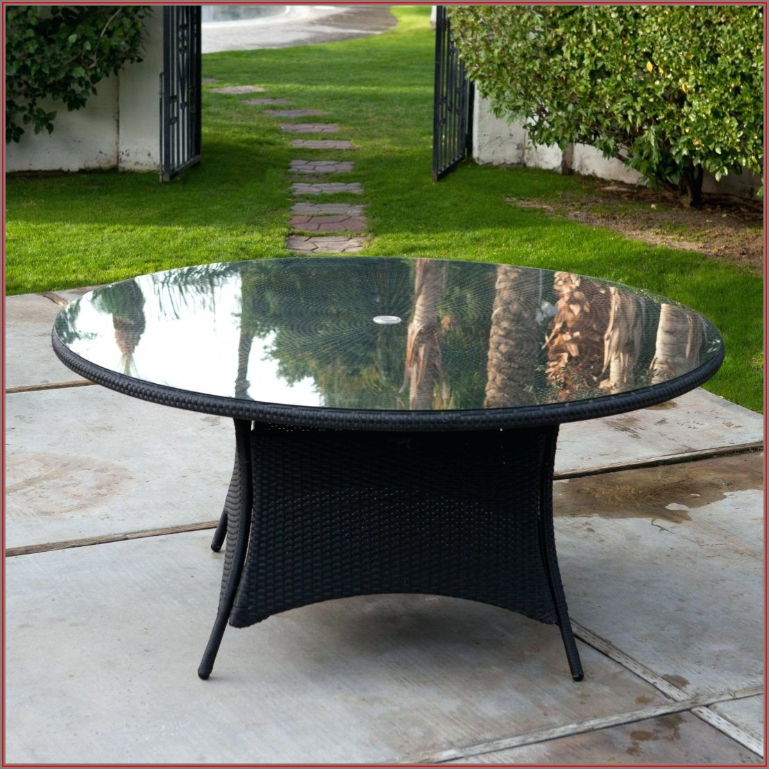 Patio Table Replacement Tile With Umbrella Hole