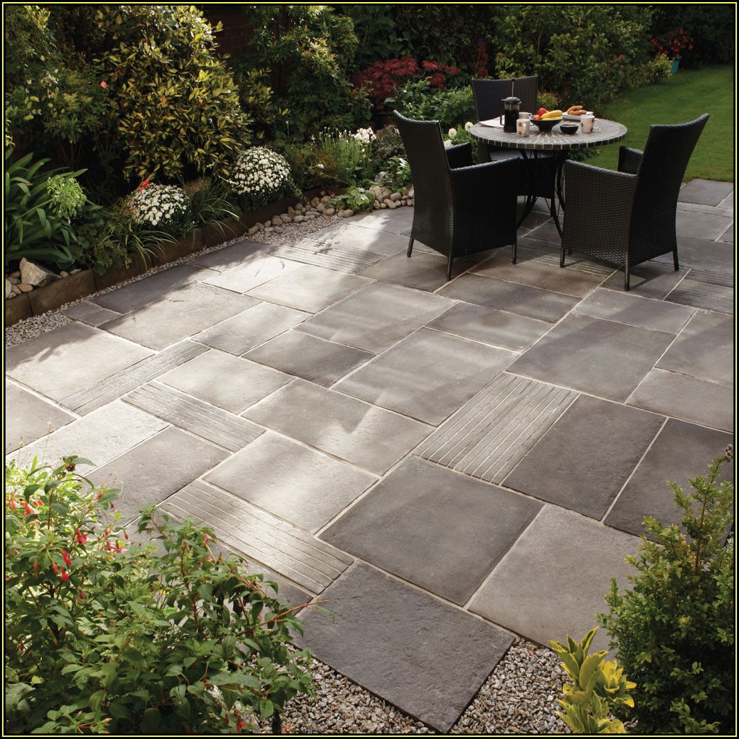 Patio Tiles Over Grass