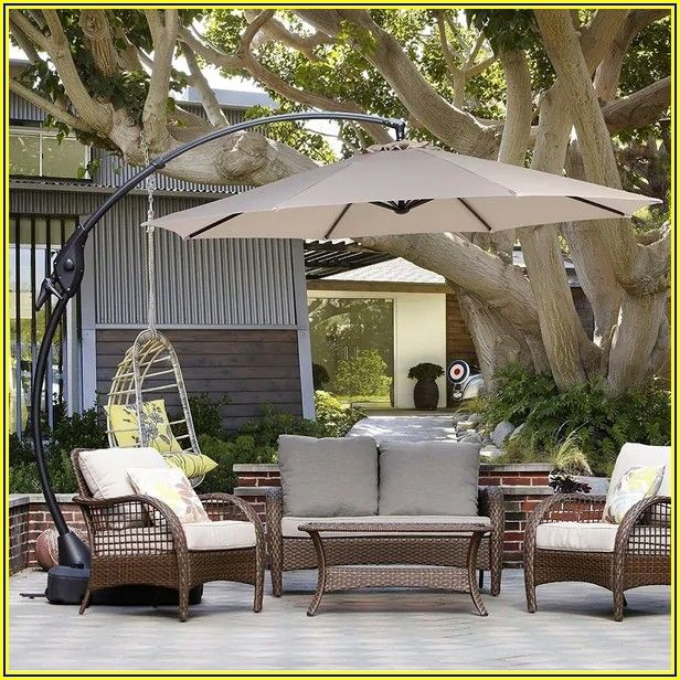 Patio Umbrella With Base Included