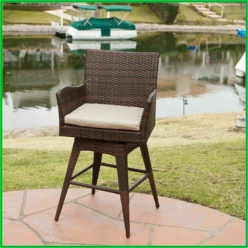 Patio Wicker Bar Stools