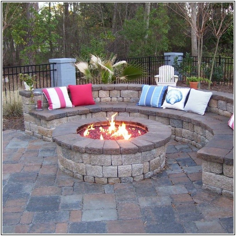 Patio With Built In Firepit