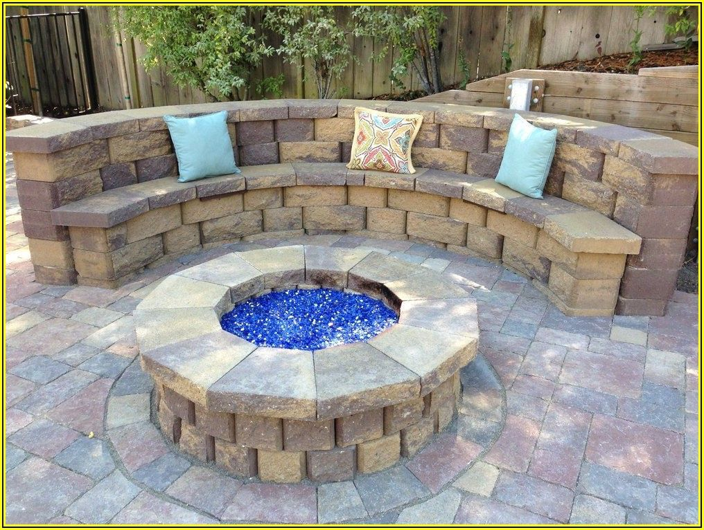 Paver Patio With Bench Seating