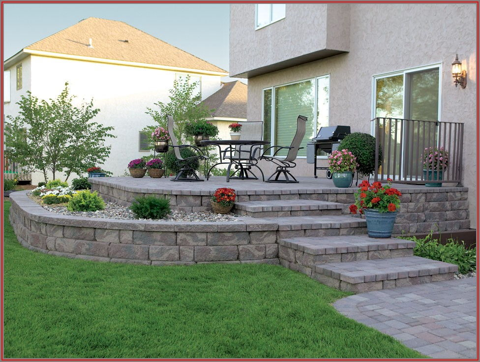 Paver Patio With Retaining Wall Ideas