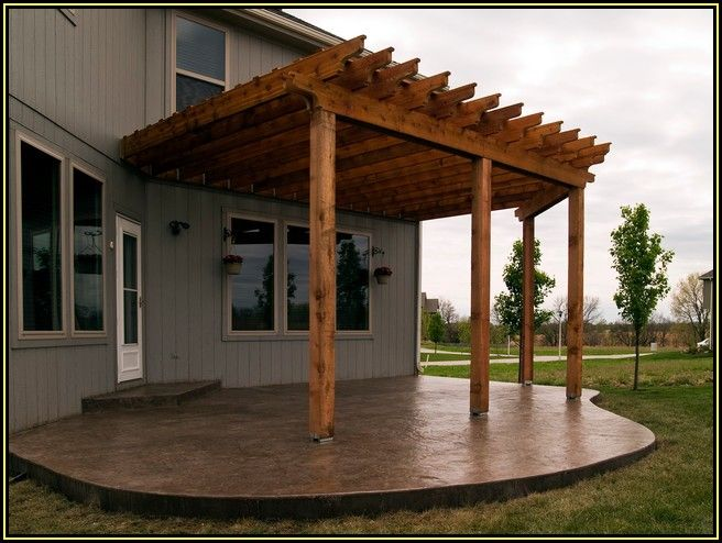 Pergola On Concrete Patio