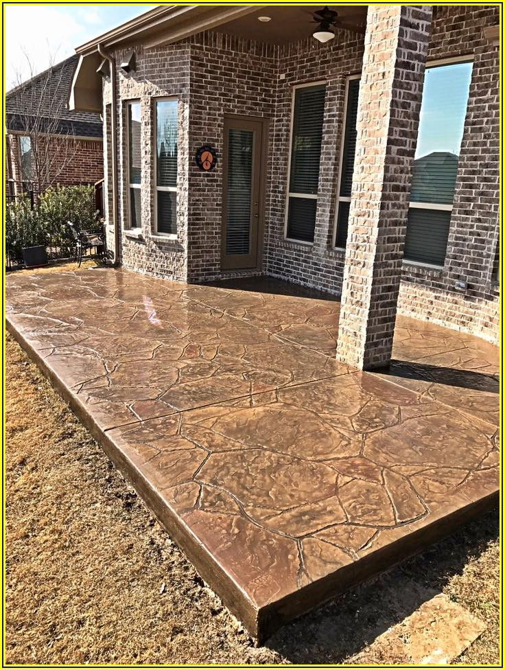 Pics Of Stamped Concrete Patios