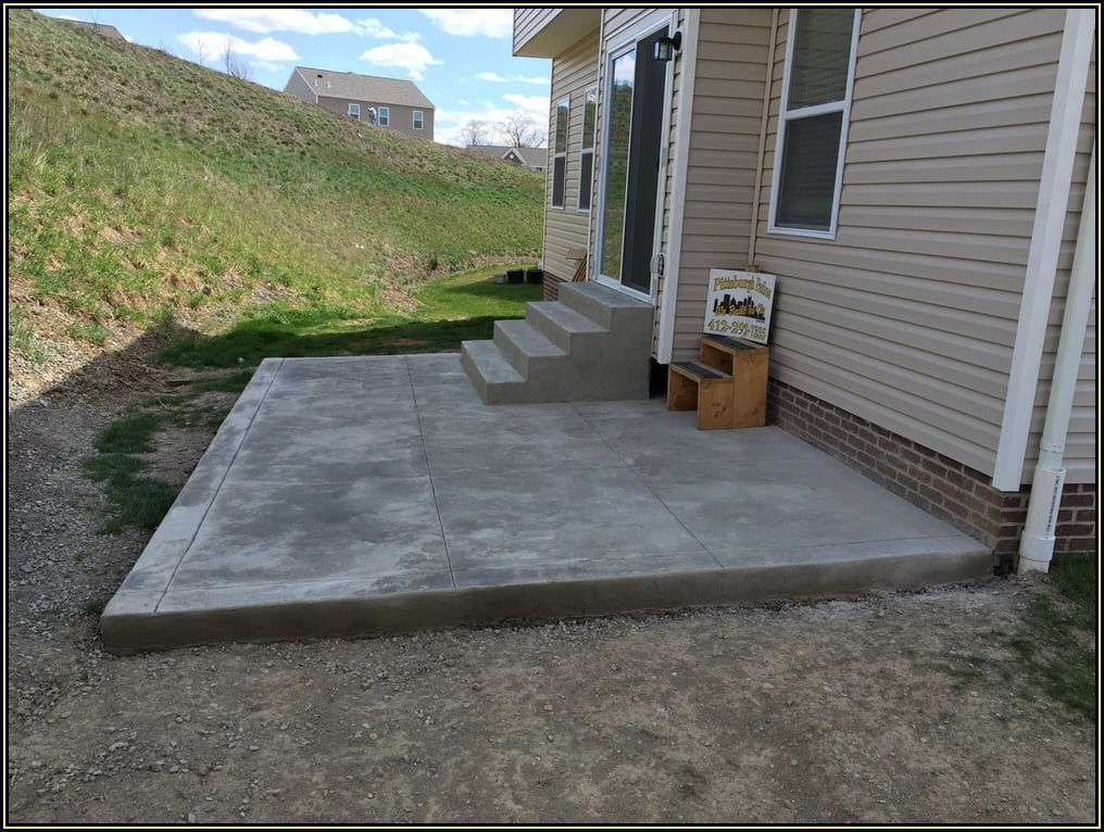 Pictures Of Concrete Patios With Steps