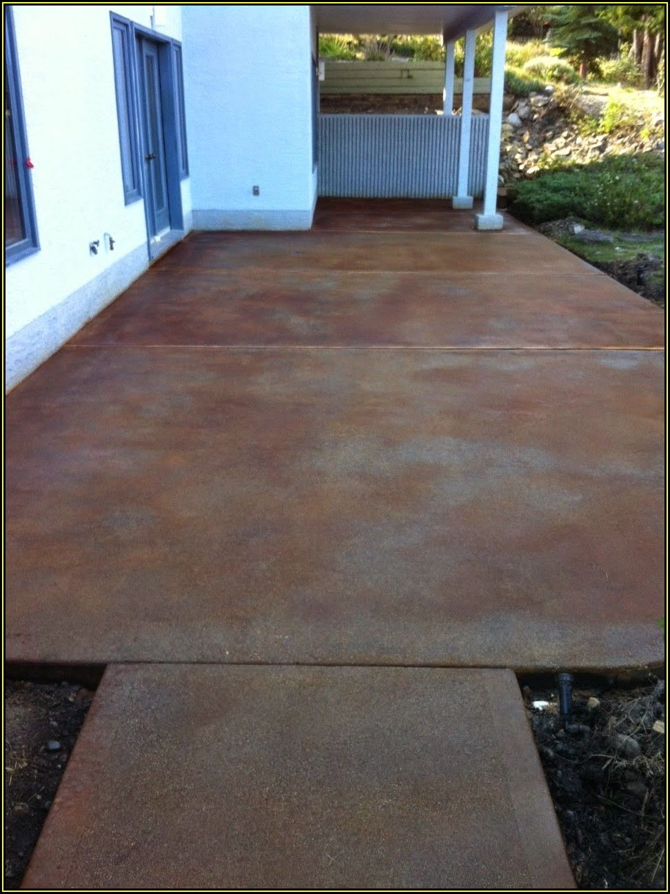 Pictures Of Stained Concrete Patios