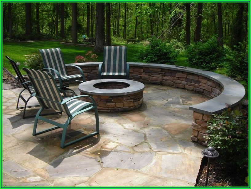 Pictures Of Stone Patios With Fire Pits
