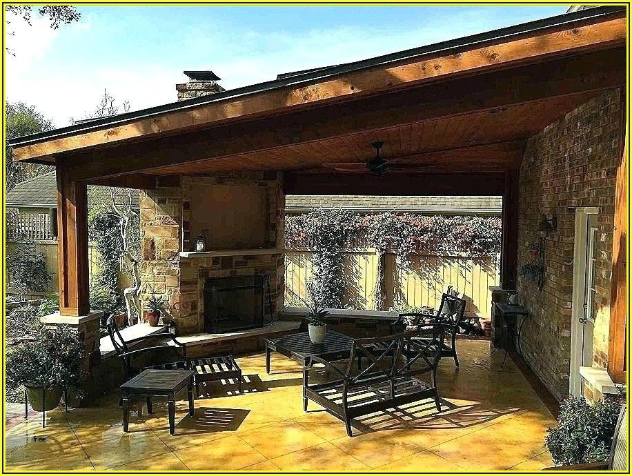 Propane Fire Pit Under Covered Patio