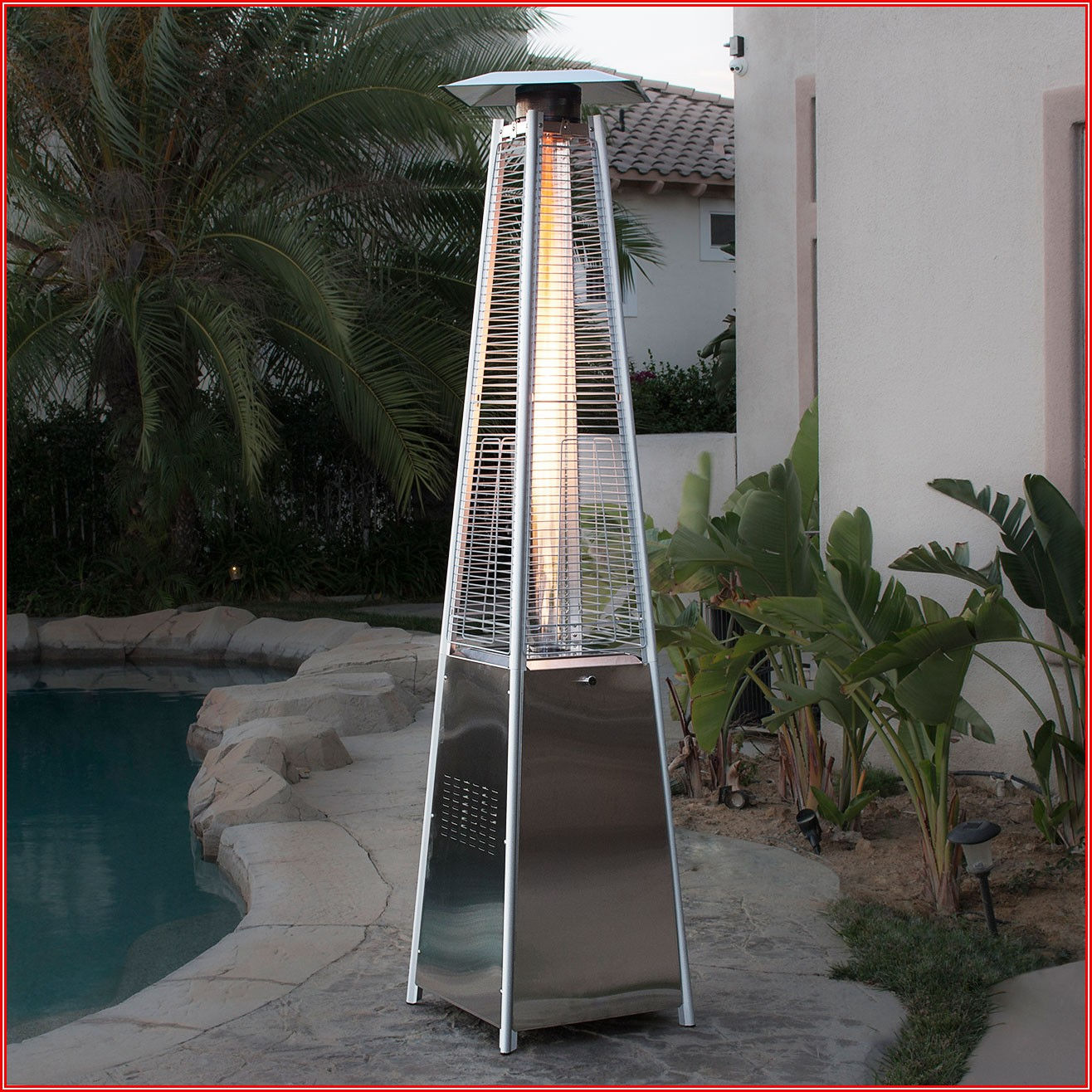 Pyramid Flame Gas Patio Heater