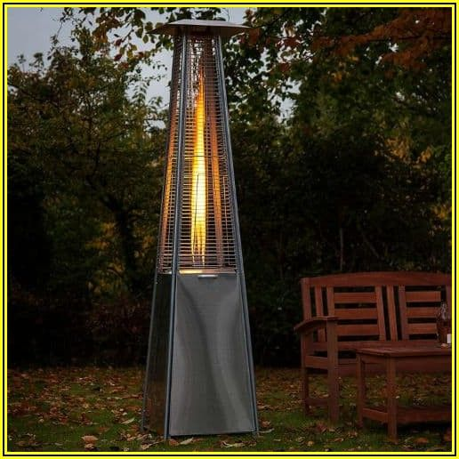 Pyramid Outdoor Gas Patio Heater With Flame