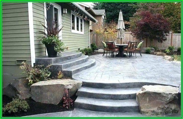 Raised Concrete Slab Patio