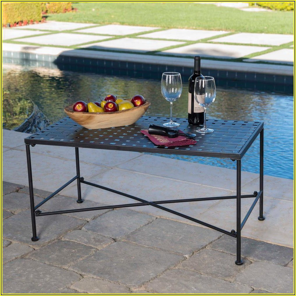 Rectangle Metal Patio Table