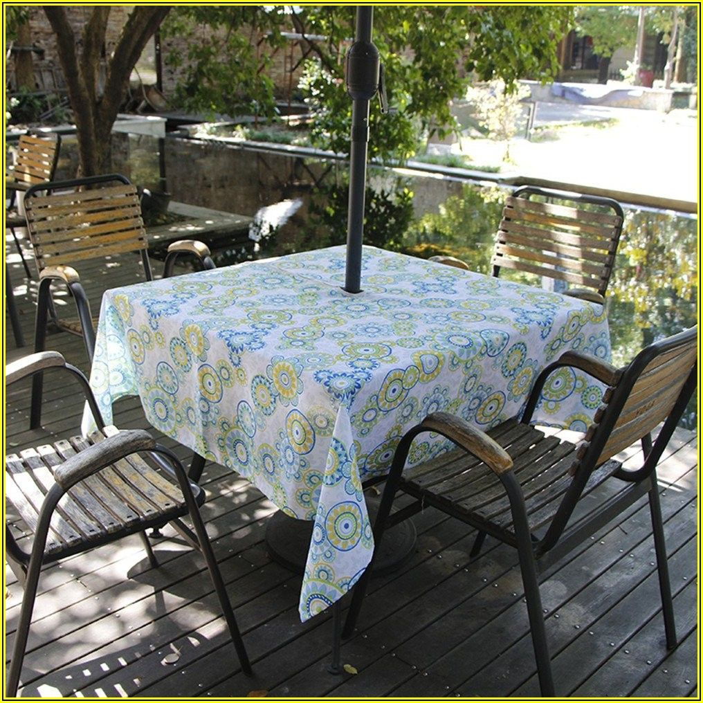 Rectangle Patio Table Umbrella Tablecloth