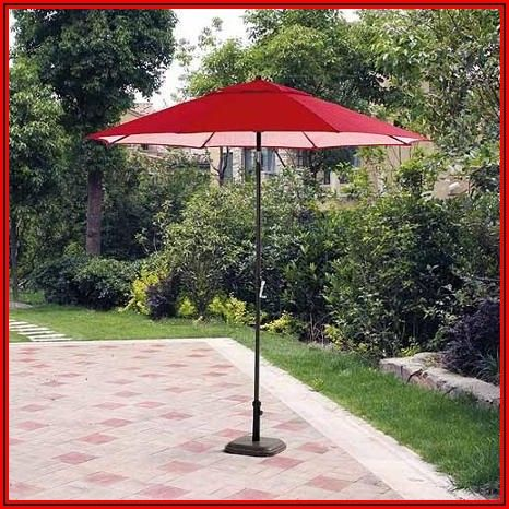 Red Rectangular Patio Umbrella
