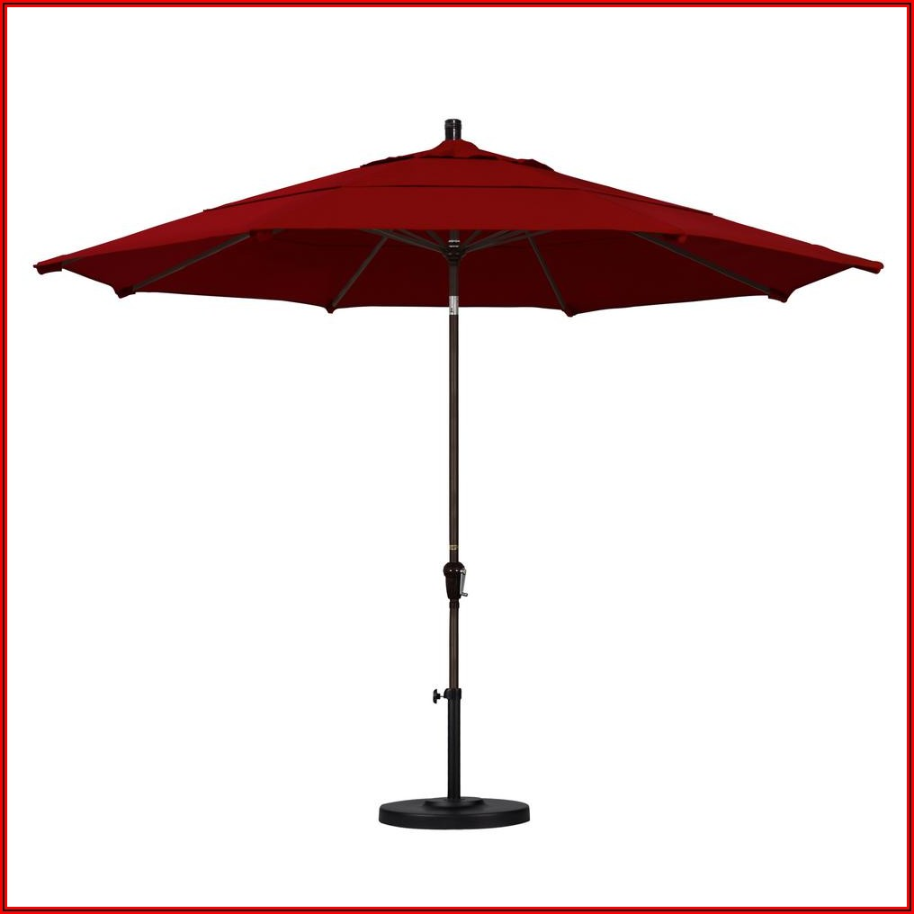Red Sunbrella Patio Umbrella