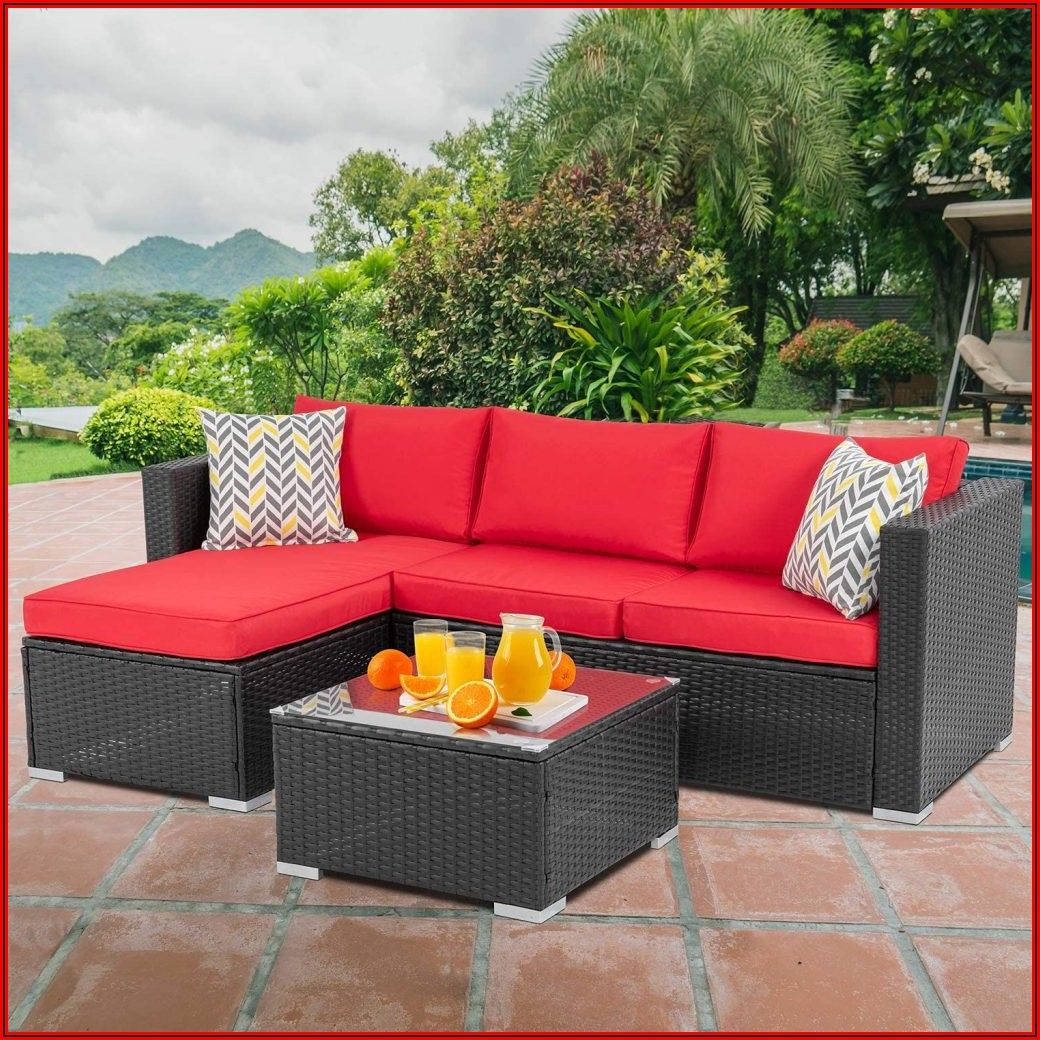 Red Wicker Patio Furniture