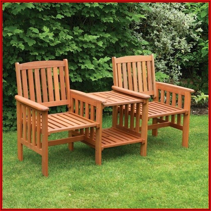 Redwood Tete A Tete Patio Furniture