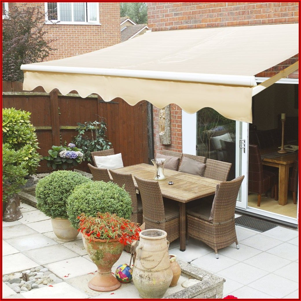 Retractable Patio Sun Shade Awning Cover